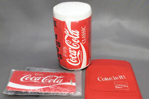 Coca-Cola-Lot-of-3-Misc-Wrapped-T-Shirt-Luggage-Tag-and-Pocket-Protector