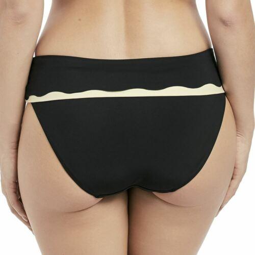 Fantasie Swimwear Sainte Maxime Fold Bikini Brief//Bottoms Black//Cream 6235