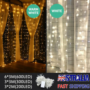 300-600-Led-Curtain-Fairy-Lights-Wedding-Indoor-Outdoor-Christmas-Garden-Party