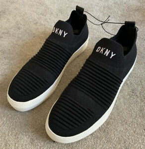 DKNY Trainers Womens Size 8 Black And