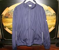 Mens Large Navy Blue Weathertec Golf Jacket Cutter & Buck Final Four 2008 Ncaa