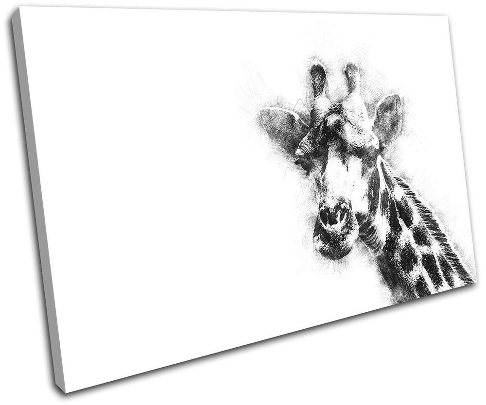 Giraffe Abstract Scribble Animals SINGLE LONA pa arte rojo  arte pa Foto impresion 1550a9