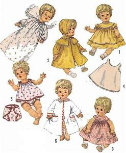 Vintage Doll Clothes PATTERN 4727 for 14 in Betsy Wetsy Carrie Cries Sweetie Pie