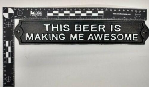 Ferro fundido esta Cerveja Está me Deixando sinal incrível homem da caverna engraçado Sinal Placa Vintage