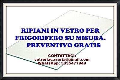 Ripiano In Vetro Frigorifero 59cm X 42cm.,spessore 4mm Trasparente