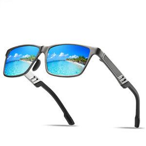 Gafas-Sol-Polarizadas-Conduccion-De-Aluminio-Para-Hombres-Deportes-espejados-Anteojos-Gafas-NUEVO