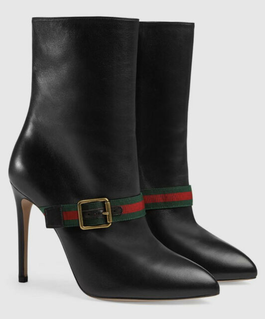0b518d48de9 Gucci Sylvie Leather Ankle Boot. Women's Size Us6/eu36. Style 475653 Btmo0  1060