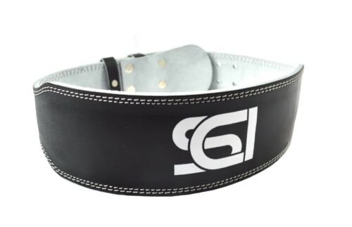 """Weight Lifting 4/"""" Leather Belt Back Support Strap Gym Power Training Fitness"""
