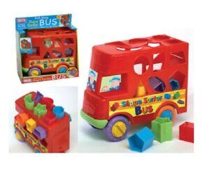Nouvelle forme Trieur Trieuse de bus pour Bébé Activité Pousse Jouet 12 Mois