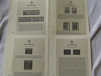 Blöcke+marken Vatikan 80/90 Er Jahre ?? 37 Blatt Lindner T Vordruck F