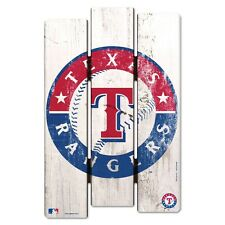 "TEXAS RANGERS FENCE WOOD SIGN 11""X17'' BRAND NEW FREE SHIPPING WINCRAFT"