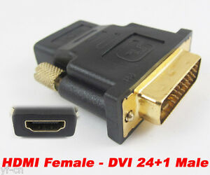 DVI-D 24+1Pin DVI Male to HDMI Female adapter Gold-Plated M to F Converter AHS