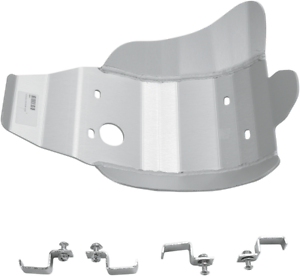 09-12 Honda CRF450R Moose Aluminum Clear Anodized Skid Plate  464