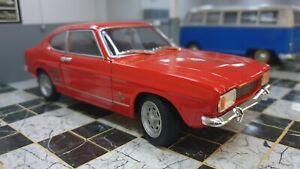 MK1 Ford Capri Vermelho 1969 1600 Gt Xl V6 Motor Welly Escala 1:24 Modelo De Carro Em Metal Fundido