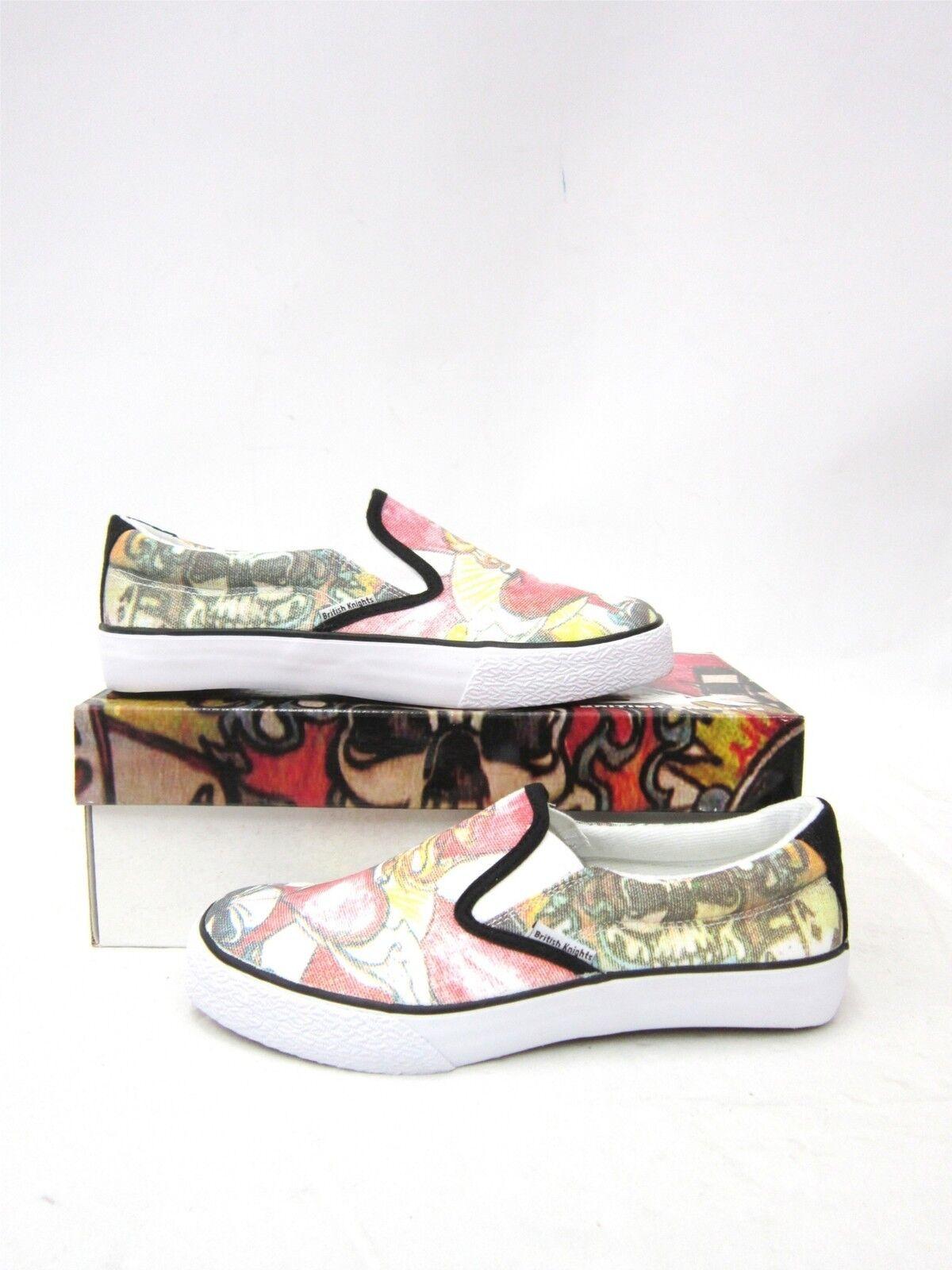BK Sneaker Slipon Skull Schuh white  5006
