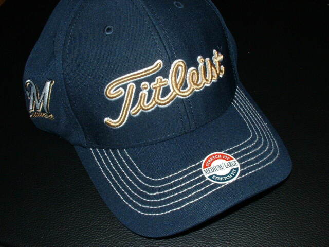 running shoes outlet new photos Titleist / MIlwaukee Brewers Golf Cap! Fitted Style. Show Your ...
