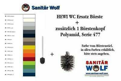 HEWI Ersatzbürste WC Bürste 1 Ersatzbürstenkopf Farbe Signalweiss Nr.98