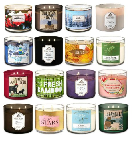 Bath and Body Works 3 Wick Candle Large With Decorative Lid 14.5 oz You Pick