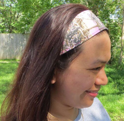 mossy oak breakup realtree camo pink cotton headband MC2 stretch fabric hunter