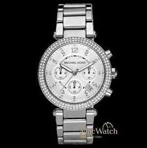 Michael-Kors-Damen-Uhr-MK5353-Parker-silberfarben-NEU