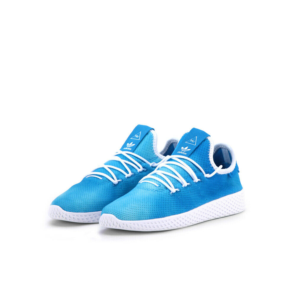 Kid's ADIDAS PHARRELL WILLIAMS tenis Hu Lino X Azul blancoo Unisex BB6837
