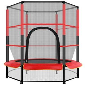 """55/"""" mini Kids Toy Trampoline 4.5ft Exercise Jumping Trampoline Indoor// Outdoor"""