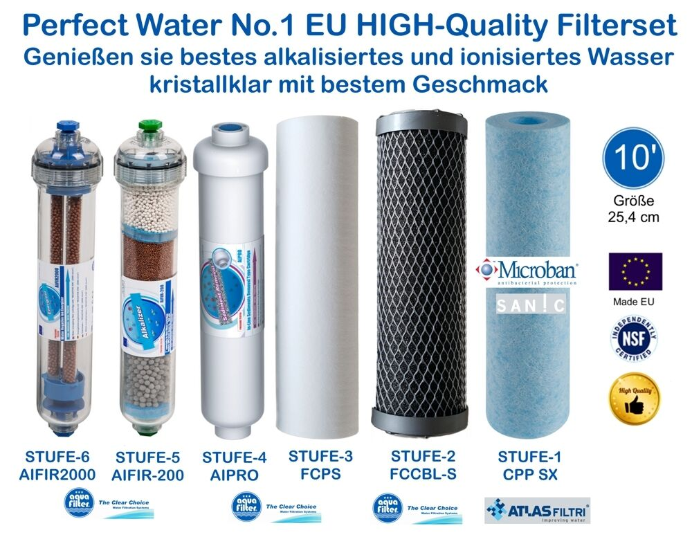 Perfect Water No.1 Filterset 10  Osmoseanlage Ultimate PLUS PRO Side Stream