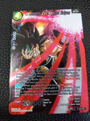 DRAGONBALL SUPER CARD GAME INCREASING EVIL MASKED SAIYAN MINT P-029 PR