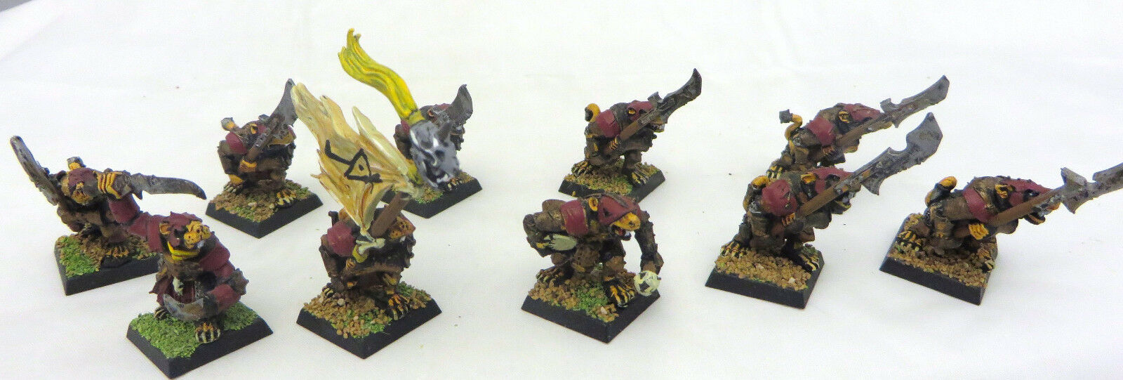 Warhammer Skaven Stormvermin painted army lot metal table ready