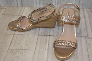 b0d76f9de67 Via Spiga Indira Wedge Sandal - Women's Size 7.5M Rose Gold | eBay