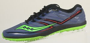 fd5171d9 Details about Saucony Kilkenny XC7 Flat denim slime cross country training  Men size USA 7 EU40