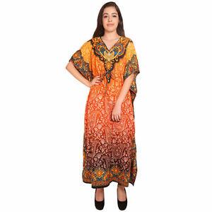 Details about  Long-Kaftan-dress-Hippy-Boho-Maxi-Plus-Size-Women-Caftan-Tunic-Dress-Night-Gown