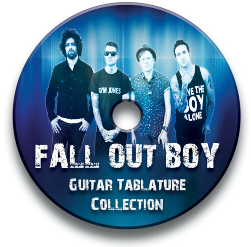 Fall Out Boy Rock Guitar Etiketten Tablature Lied BUCH Software CD