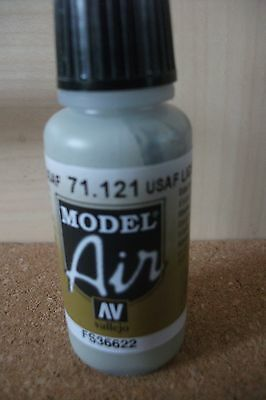 Av Vallejo Model 17ml Bouteille Usaf Gris Clair Val121 Ambitious Peinture Brosse à Air