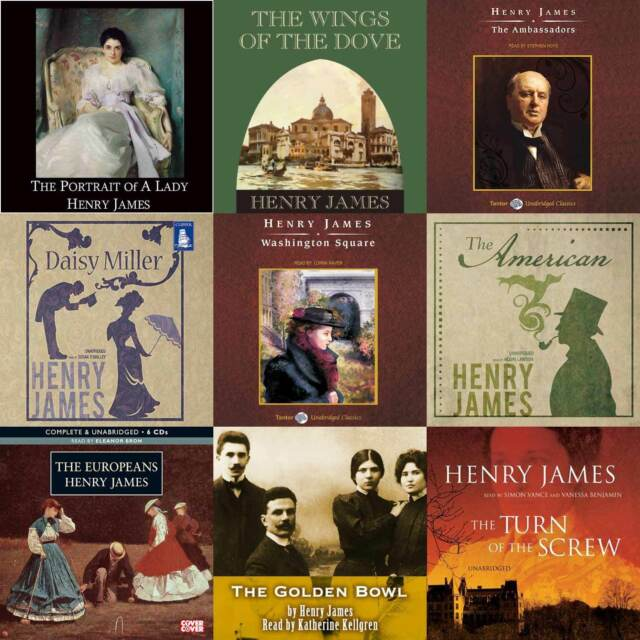 Henry James Audiobook Collection on mp3 DVD