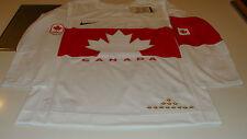 Team Canada 2014 Sochi Winter Olympics Hockey Jersey Small White Twill Ice