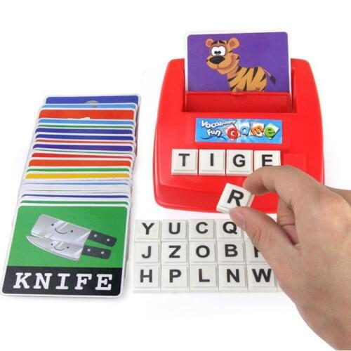 Educational Toy Spelling Letter Game Kids English Alphabet Early Learning H