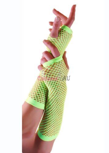 Authentic Fishnet Gloves Dance Disco 80s Fingerless Costume Elbow Length