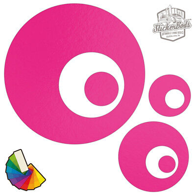 20 Circle Spot Dot Car /& Wall Stickers DecalsChoose from 30 Colours S2
