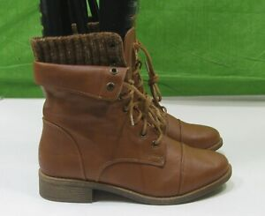 first rate popular brand size 40 NEW Tan LACE UP RIDING Round Toe Sexy Ankle Boots US WOMEN Size 8 ...