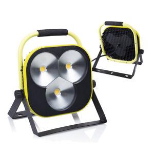 Portatile-a-LED-Riflettore-Lampada-da-lavoro-50w-Giallo-Nero-Supporto-amp-Cavo-UVP-119