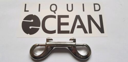 90mm Double Ended Bolt Snap 316 Marine Grade Stainless Steel