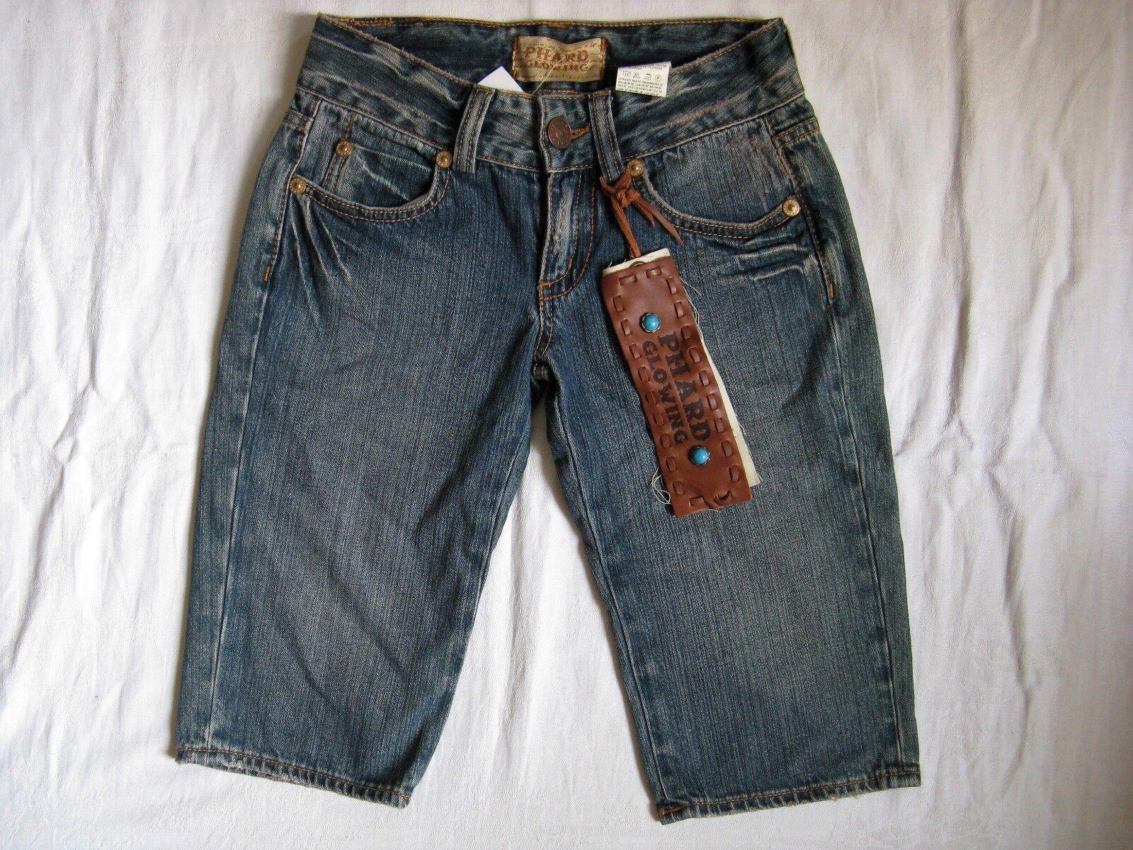 PHARD Glowing bluee Jeans Shorts W25 x-low waist regular fit short leg women
