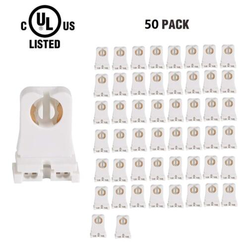 50 Pack of UL Listed GZ106 Non-shunted T8 Lamp Holder for LED Tube replacements