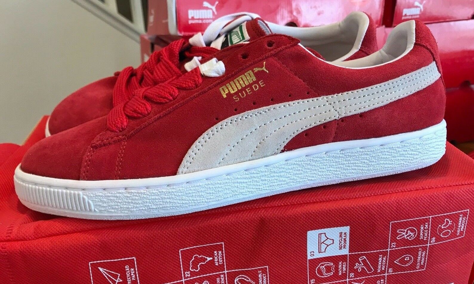 Scarpe casual da uomo New Puma Suede Classic+ High Risk Red/White