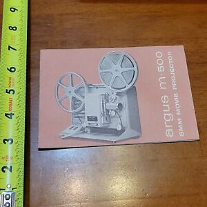 ARGUS M 500 8MM MOVIE PROJECTOR BOOKLET MANUAL OWNERS USER VINTAGE 2