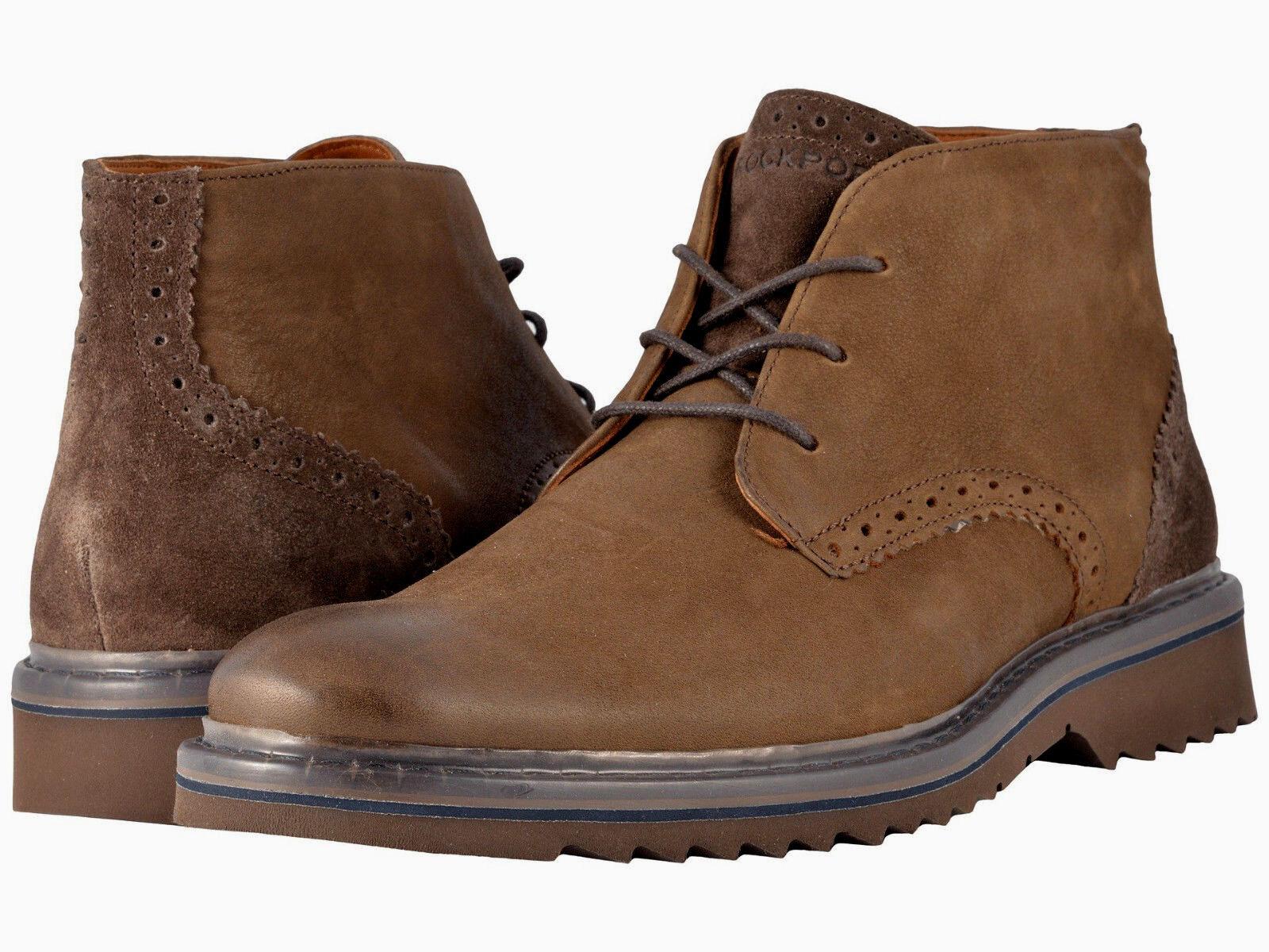 Rockport Men's Jaxson US 11 W Brown Leather Chukka Ankle Boots  160.00