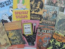 Lot of 12 VINTAGE FORTUNE TELLER VOODO MAGIC Die Cuts for CRAFTS | H50 FREE SHIP