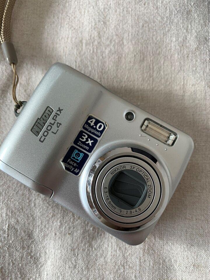 Nikon Nikon Coolpix L4, 4 megapixels, 3 x optisk zoom