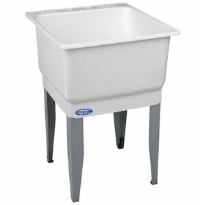 White Utility Sink : ... > Sinks > See more Utility Sink Tub for Laundry Washing Kitchen 2